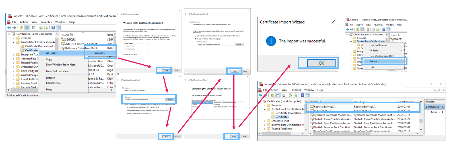 Implement security certificate in dynamics nav 2016 create a certificate revocation list for the root certification authority and install it xflitez Gallery